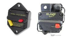 Hi-Amp Circuit Breakers, Panel Mount (left), Surface Mount (right)